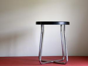Vintage stool side table / Germany steel pipe furniture a-ru deco