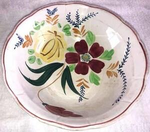 昭和レトロ☆日本製☆ 陶器・サラダボール ☆ 花柄【USED】