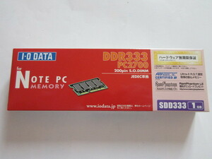 * outer box defect *IO DATA* Note for PC2700(DDR333)*SDD333-1G