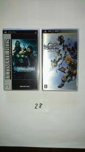 PSP ソフト スクエニ ファイナル ファンタジー FF キングダムハーツ 2枚 ソフト セット プレイステーション ポータブル RPG ゲーム 中古