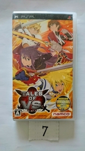 PSP ソフト ナムコ namco テイルズ オブ バーサス TALES OF VS RPG プレイステーション プレステ ポータブル 携帯 ゲーム 中古