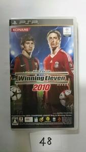 PSP ソフト KONAMI コナミ ウイニングイレブン ウイイレ 2010 サッカー 携帯 ゲーム プレステ プレイステーション ポータブル 中古
