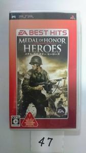 PSP ソフト メダル オブ オナー ヒーローズ MEDAL of HONOR HEROES プレステ プレイステーション ポータブル 中古