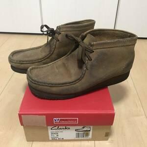 CLARKS ORIGINALS クラークス Wallabee ワラビー ブーツ25.5cm US7.5 35425 BEES WAX レザー 革 茶 ブラウン
