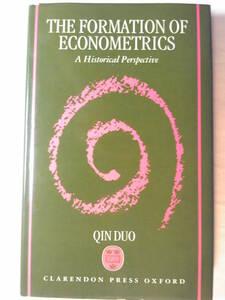 英語/経済「計量経済学の形成The Formation of Econometrics:A Historical Perspective」Qin Duo