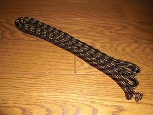 下緒 220cm (濃茶に金) 拵え・居合用    刀装具・刀剣・鍔・鞘・縁頭・目貫・小柄・笄・拵・武具