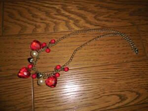 ネックレス ヴィンテージ品 (ハートと真珠のモチーフ)   ファッション・アクセサリー・ペンダント・小物雑貨