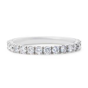 【size12号】最安値! プラチナ pt900 H&C ダイヤモンド 0.50ct 素敵な エタニティ リング 指輪【鑑別書付】