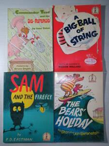 本★ 洋書初心者用英語絵本4冊 A Big Ball of String/Sam and the Firefly/The Bears' Holiday/Commander Toad and the Dis-asteroid