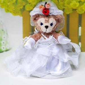 ダッフィー&シェリーメイぬいば14㎝用結婚式ウェディングドレスプレゼント本体付け