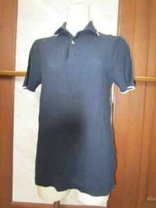 H&M   黒ポロシャツ  中古品 Sサイズ