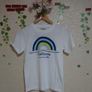 130cm 新品 キッズ 半袖 Tシャツ 子供服 白 ホワイト ロゴ サーフブランド 男女兼用 男児 女児 OP オーシャンパシフィック 男の子 女の子
