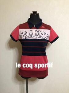 【美品】 le coq sportif golf collection ルコック ゴルフ コレクション レディース ポロシャツ ウェア レディース 半袖 サイズM QGL1986