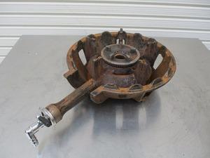 y0-1935 業務用 1口ガスコンロ 鋳物コンロ 都市ガス W280×D400×H120 中古 厨房