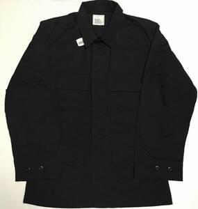 デッドストック 90s U.S.ARMY BDU BLACK357 SHIRT JACKET シャツジャケット S-REGULAR 黒 1997年製 ファティーグジャケット