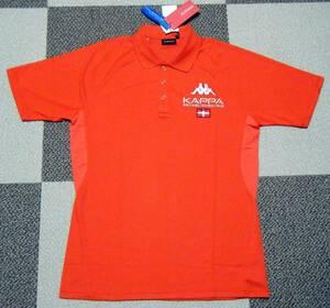 カッパ Kappa ITALIA ゴルフ用高機能/涼感ポロシャツ 赤色 サイズ L 吸水速乾/ストレッチ/接触冷感/UV機能 定価 9,180円