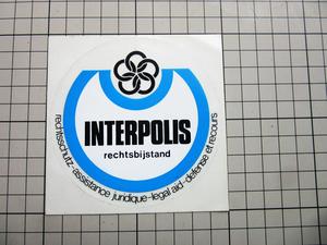 GL - 0051 【即決・定額・同梱包可能】☆ INTERPOLIS 法律 ◆インターポリス 国際警察☆ヴィンテージ ステッカー ☆ ◆