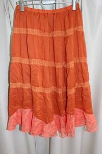 パシフィックコースト PACIFIC COAST レディーススカート オレンジ Mサイズ 新品