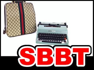 ●【SBBT】 GUCCI グッチ オリベッティ タイプライター オールドグッチ シェリー レッタラ32 ヴィンテージ GG柄 本物 未使用