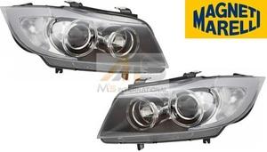 【M's】E90 E91 BMW 3シリーズ 前期(2005y-2008y) 純正OEM品 バイキセノンライト 左右SET ライト 6311-7161-673 6311-7161-674