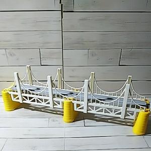 プラレール「白い 吊り橋」つり橋