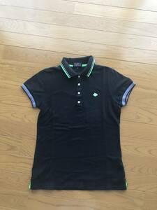 正規品 本物 パーリーゲイツ 半袖 定番ポロシャツ 1 黒 ポロシャツ ブラック フライングラビット