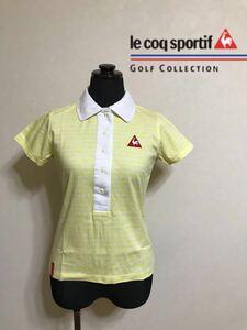 le coq sportif GOLF COLLECTION ルコック ゴルフ コレクション レディース ウェア ポロシャツ トップス サイズS 半袖 黄 デサント QGL1724