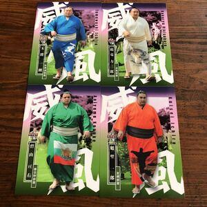 2019 BBM 大相撲 [風] サブセットカード 鶴竜 碧山 魁聖 玉鷲威風 外国人力士 モンゴル ブルガリア ブラジル出身 相撲カード