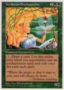 017131-002 5E/5ED 新緑の女魔術師/Verduran Enchantress 英1枚