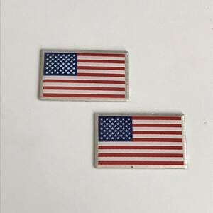 エンブレム アルミ 【アメリカ】 星条旗 USA アメ車 キャデラック ジープ ラングラー シボレー クライスラー