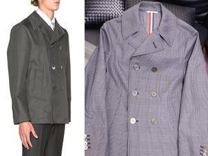 新品 トムブラウン 絶盤16SSコレクション限定 トリコロールテープドシームPコート メンズ0 紳士服 ジャケット THOM BROWNE. 本物 国内正規