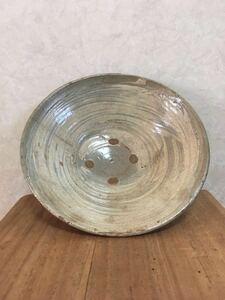 李朝初期刷毛目茶碗