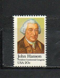 196042 アメリカ合衆国 1981年 大陸議会議長(最初の合衆国大統領)ジョン・ハンソン 未使用NH