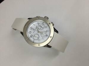 ●フォリフォリ クロノ レディース腕時計 ラバーベルト●Folli Follie 美品