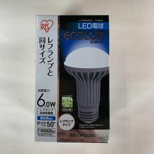 新品未使用 IRIS OHYAMA アイリスオーヤマ エコルクス LDR6NW 6.0W LED電球 B35-2001