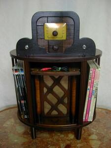 アンティーク & アート !! 外装自作 整備済み 完動品 メーカー不明 ビンテージ 真空管 ラジオ