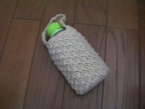 I's☆ペットボトルカバー☆綿100%*コットン100%*ちょっとしたおでかけに*プチプレゼントに*手編み*ハンドメイド