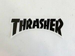 NEW THRASHER ダイカットロゴステッカーブラック/AN923 スケート スケボー ■