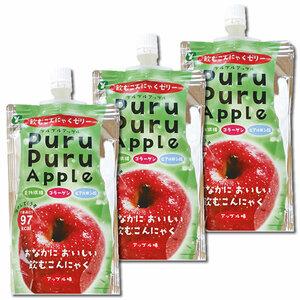 山吉青果食品 飲むこんにゃくゼリー アップル味 130g×3本お試しセット