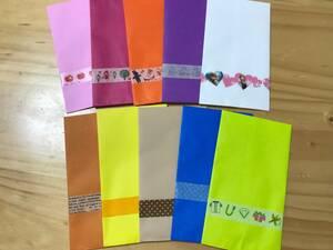 ▼ぽち袋 ポチ袋 ミニ封筒 10色10柄 ハンドメイド ベロあり