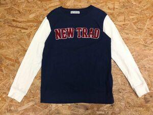 【送料無料】BEAMS HEART ビームス ハーツ NEW TRAD カジュアル 長袖Tシャツ ロンT カットソー レディース 刺繍 袖切替 紺