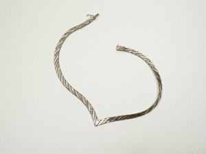 ビンテージ■スターリングシルバー ネックレス(純銀925刻印)イタリア製■アンティーク