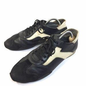 【フェラガモ】本物 Ferragamo 靴 25cm スニーカー カジュアルシューズ ビジネスシューズ レザー×スエード 男性 メンズ イタリア製 7 EEE