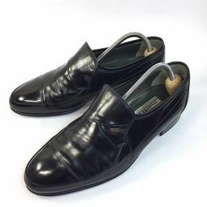 【マドラス】本物 madras 靴 25cm 黒 スリッポン ローファー ビジネスシューズ 本革 レザー 男性用 メンズ