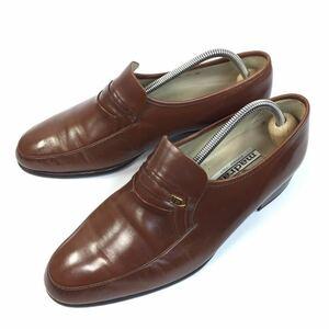 【マドラス】本物 madras 靴 25cm 茶 スリッポン ローファー ビジネスシューズ 本革 レザー 男性用 メンズ 日本製 25 EEEE