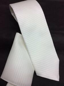 新品結婚式用 白ネクタイ 京都最高級織物使用 日本製シルク100%お買い得 定価\6,480の品 チーフ付き