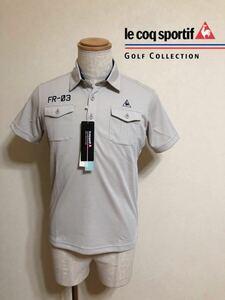 【新品】 le coq sportif GOLF COLLECTION ルコック ゴルフ コレクション ドライポロシャツ トップス サイズS 半袖 QG2973 吸汗速乾 UVケア