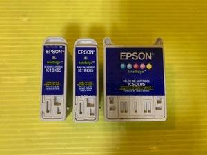 ★使用済★EPSON エプソン純正 05シリーズ IC5CL05 IC1BK05 カラー ブラック インクカートリッジ 3点セット