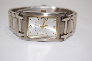【500円スタート!】アンクライン ANNE KLEIN シルバー文字盤 メタルxSS クォーツ レディス腕時計