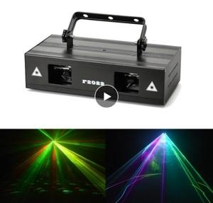 高輝度 2 レンズ赤緑青 RGB ビームレーザー DMX512 プロのプロジェクター Dj パーティーショー舞台照明